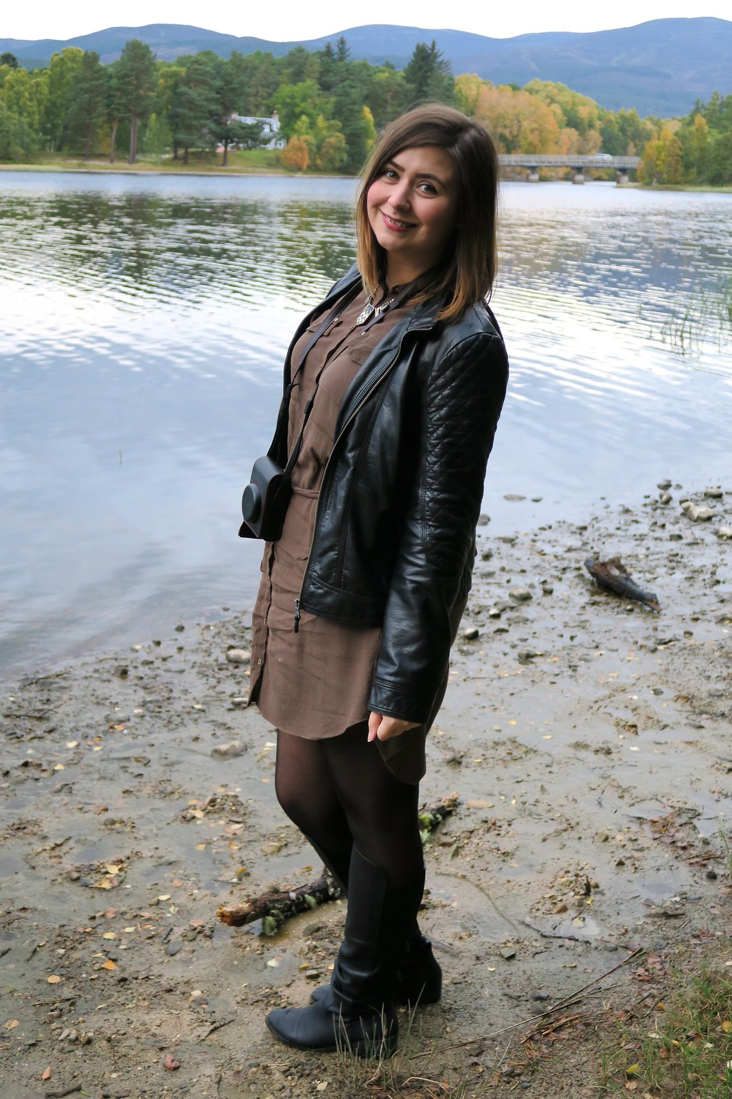 uk fashion lifestyle blogger kingussie scotland trip river island dress
