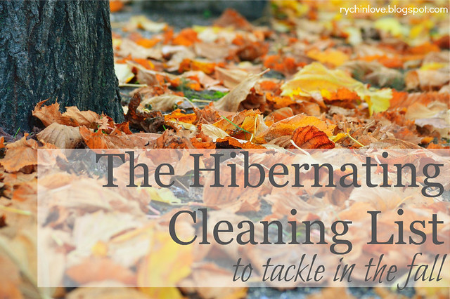 Hibernating Cleaning List - do these things in fall to make your winter cozier!