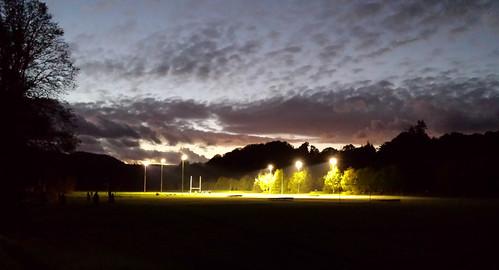 Floodlit rugby