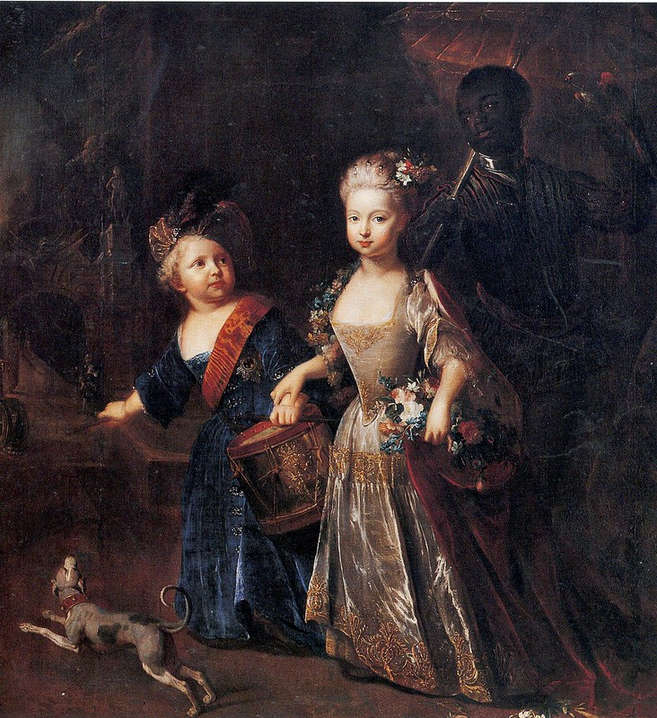 Antoine Pesne - Frederick the Great as a child with his sister Wilhelmine (c.1720)