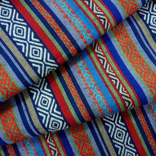 藍黑民俗風緹花線 民族風 原住民 雲南麗江民族 裝飾服裝布料 CE890043