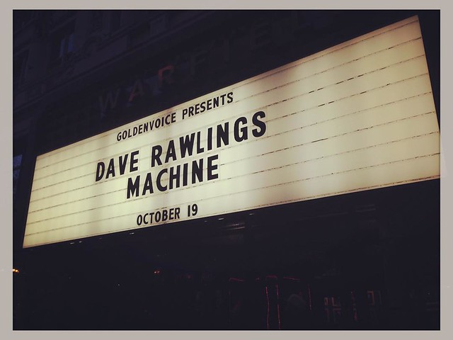 Dave Rawlings Machine, the Warfield, 10-19-15