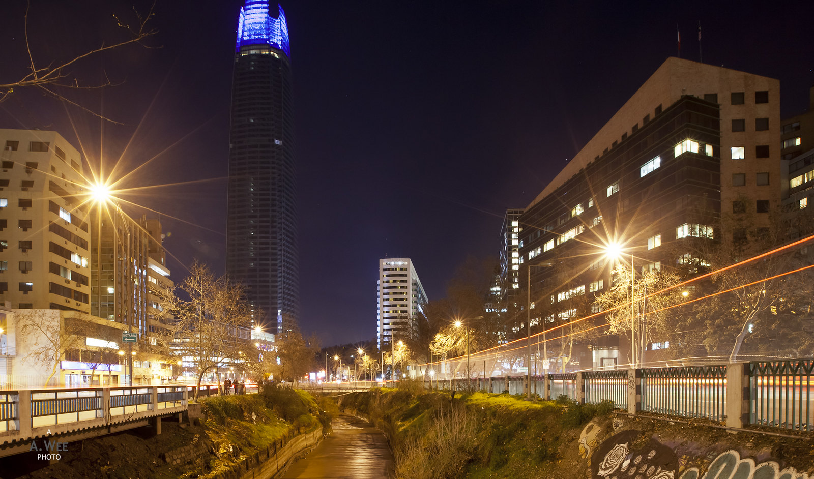 Providencia at night