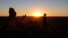 Broken Hill Sunset Silhouettes I