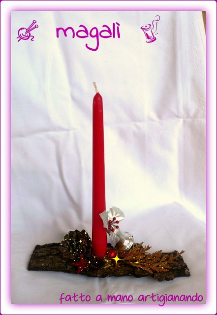 centrotavola natalizio di bosco e mare