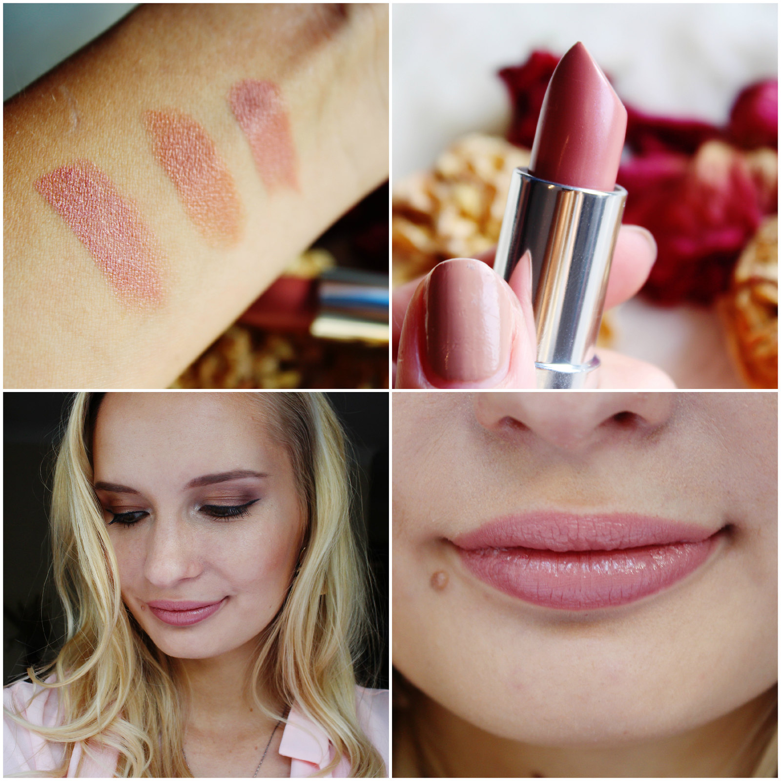Rimmel Long Lasting Finish Kate Nude Lipstick collection review shade 45