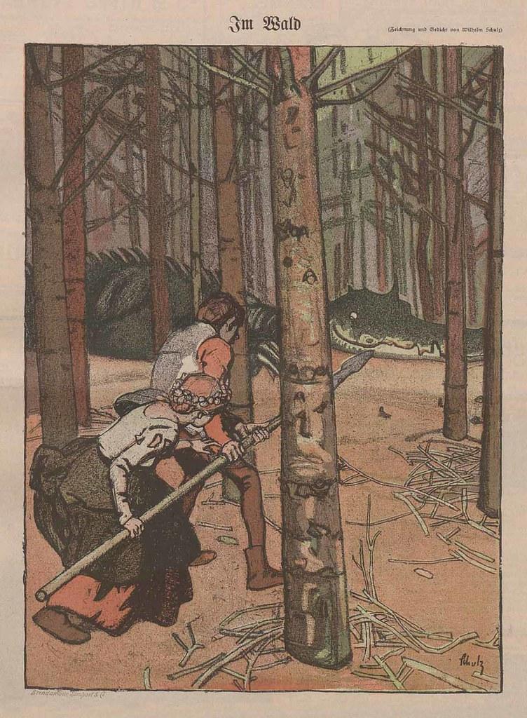 Wilhelm Schulz - In The Forest, 1902