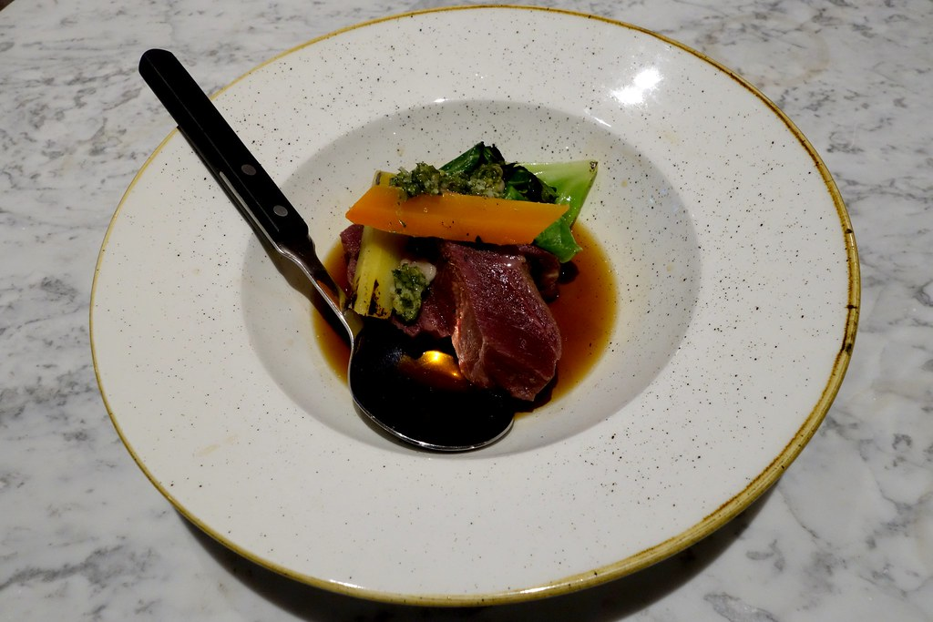 The Ninth: Salted beef cheeks, oxtail consomme and charred cabbage