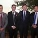 Marcel Lebleu, embajador de Canadá en Chile; Ben Vaughan, presidente (s) de Transelec; Andrés Kuhlmann, gerente general de Transelec, y Andrés Rebolledo, ministro de Energía