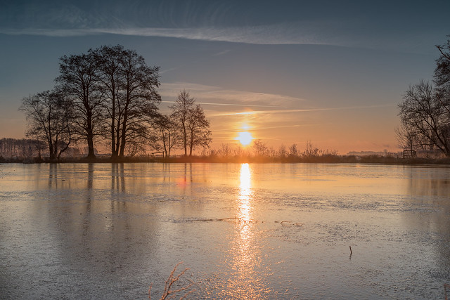 Sonnenaufgang im Blockland