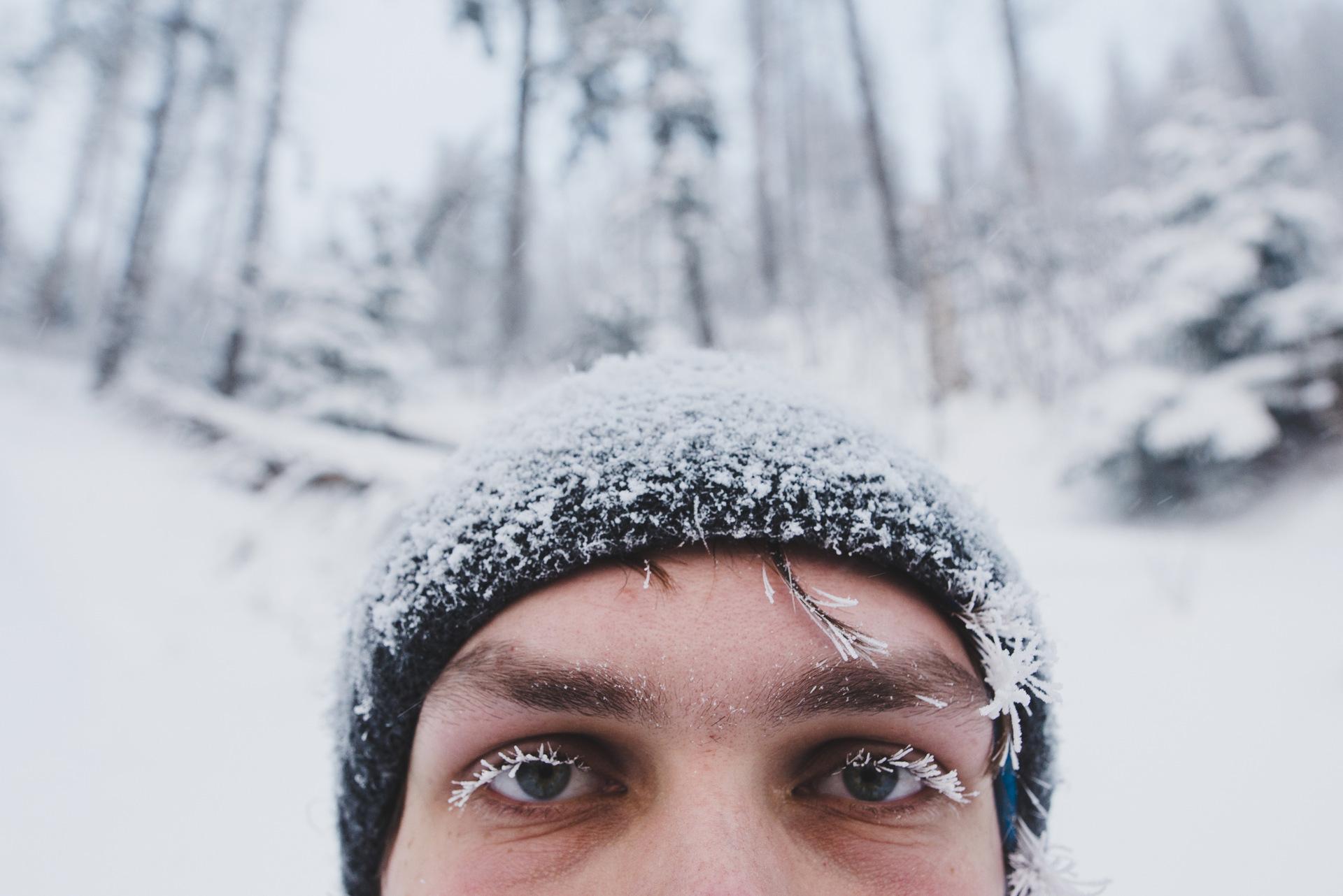 sarnia skała zima