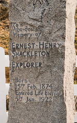 Ernest Shackleton's grave, Grytviken, South Georgia Island