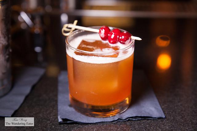 Return the Favor - Bourbon, lemon, orange cardamom sweetner, Amer