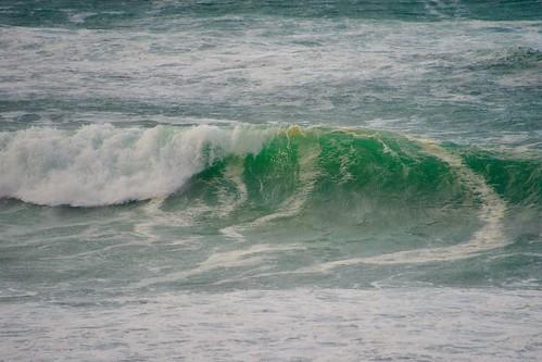 Mareas vivas con la marea alta en Zarautz
