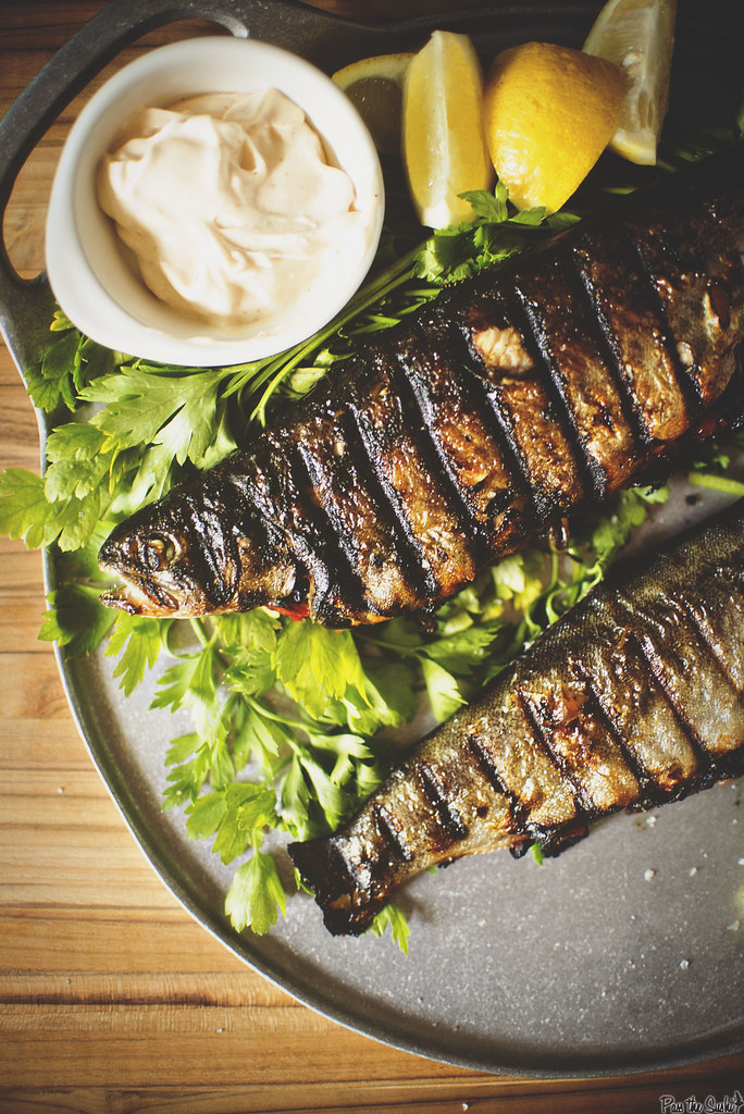 Stuffed and Grilled Rainbow Trout | GirlCarnivore.com