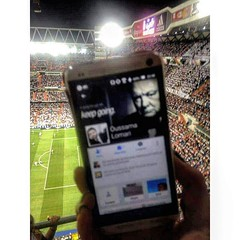 A bit blurry, but still a wonderful shot from Santiago Bernabeu.