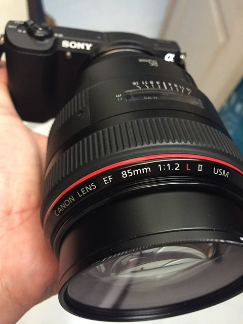 Canon EF 85mm f1.2L II on Sony a5100