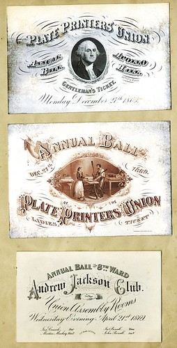 Lot 992 Plate Printer's Union Coated Stock Invitation Pair