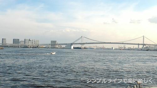 東京2日目、水上バス・レインボーブリッジ
