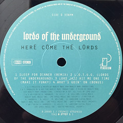 LORDS OF THE UNDERGROUND:HERE COME THE LORDS(LABEL SIDE-D)