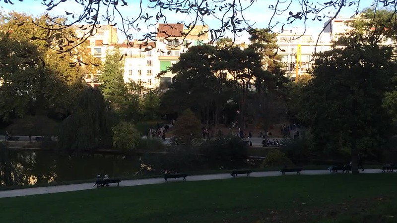 "Parc Montsouris, the final scene of 14e Arrondissement in ""Paris, je t'aime""."