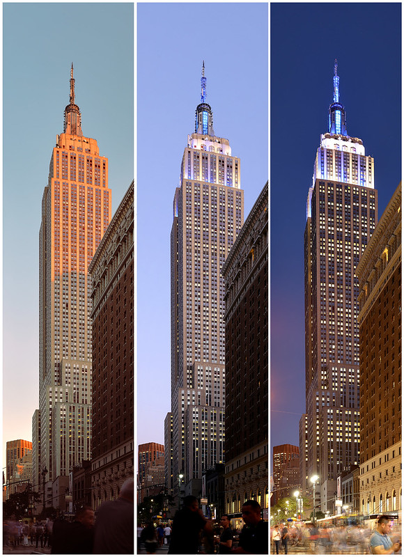 Empire State Building:  Day into Night