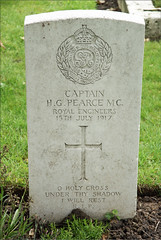 H.G. Pearce, Royal Engineers, 1917, War Grave, Poperinghe