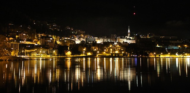 st moritz at night