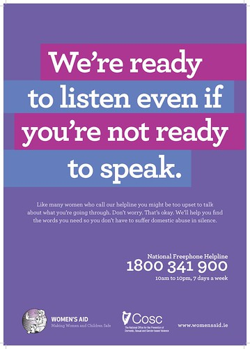 The Women's Aid 'Don't Be Afraid' national public awareness advertising campaign