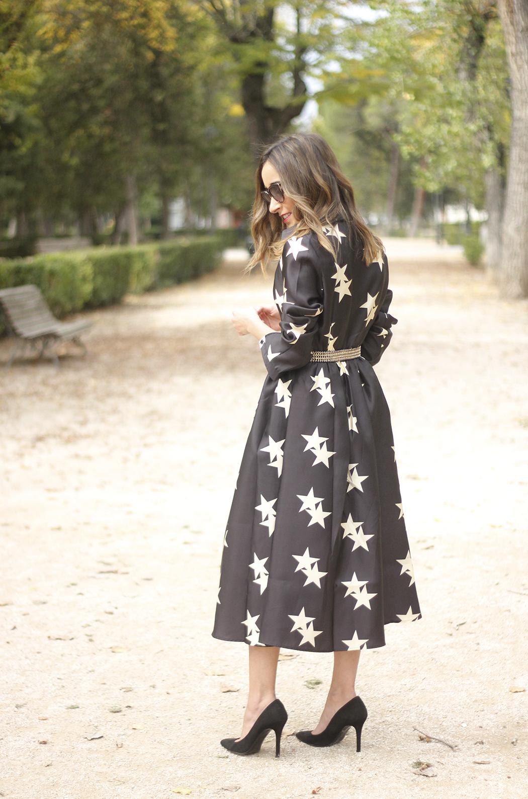 Star Print Dress sunnies heels outfit14