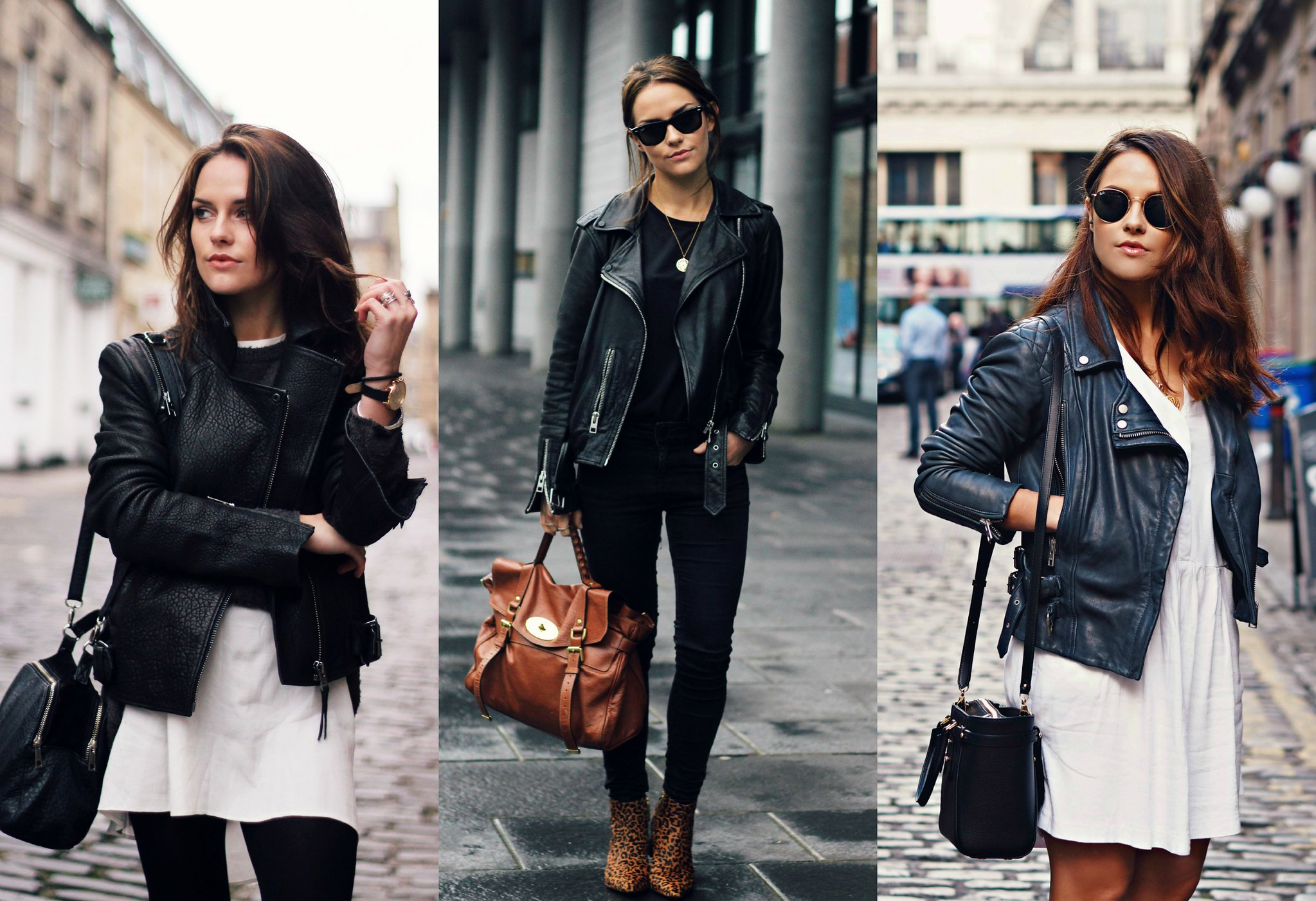 Leather jacket the little magpie All Saints