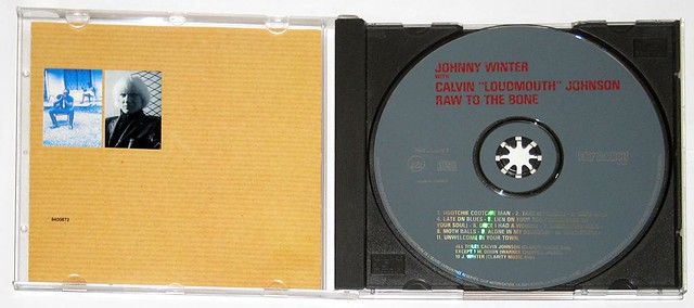 CALVIN LOUDMOUTH JOHNSON JOHNNY WINTER . RAW TO THE BONE