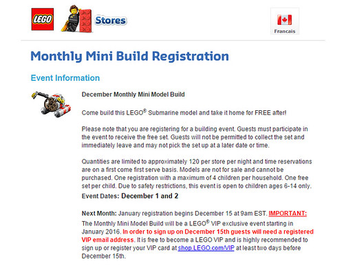 LEGO Monthly Mini Build Change