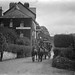 Horse drawing carriage leaving from the Eccles Hotel, Glengarriff, Co. Cork by National Library of Ireland on The Commons