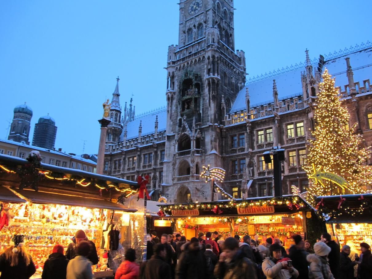 Christmas market in Munich, Germany. Credit Bbb