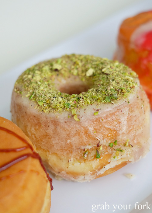 The Butternut donut with crushed pistachios at Doughnut Time at Central Park, Chippendale