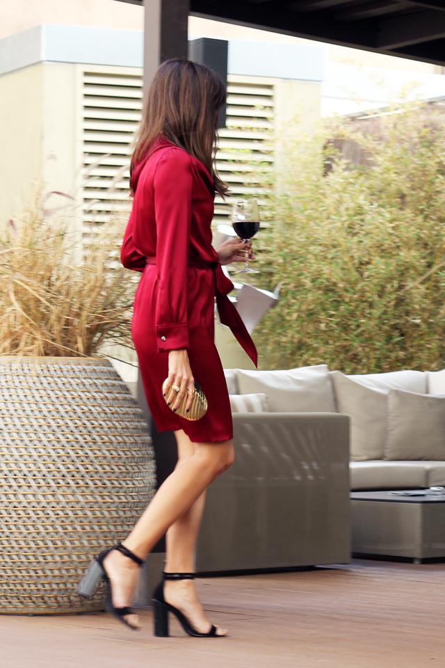 escarda red dress coohuco 8