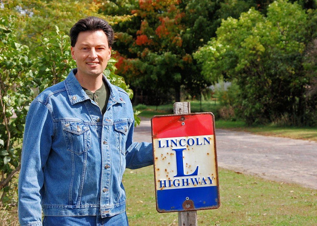 Me on the Lincoln Highway near Ligonier, IN