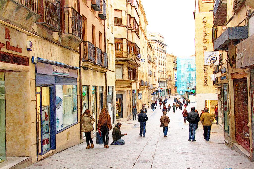 una calle de Salamanca