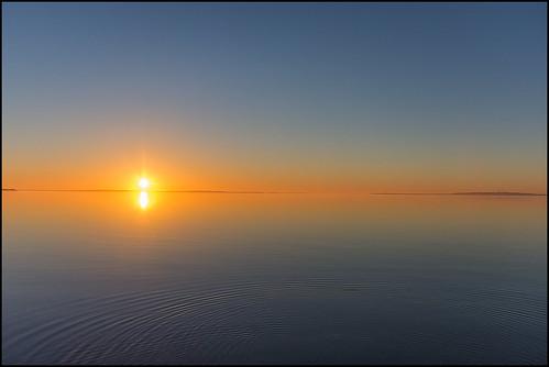 sunset trend limfjorden water sun nikond7200