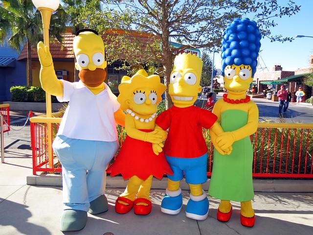 Homer, Lisa, Bart and Marge Simpson