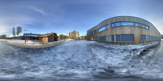 Kongsgårdmoen Skole (Kongsberg, Norway) 360x180 degrees-3552