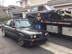 1/18/2017: Saying goodbye to my old E30 shell & moving on with life.