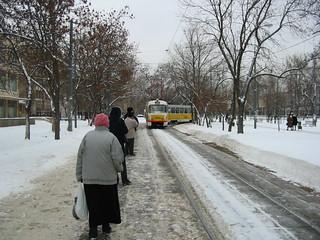 Moscow tram Tatra T3SU 3984, line closed in 2004