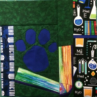 Blue's clues block for my fandom quilt