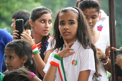 Girls celebrating Independence Day