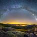 Vía Láctea sobre las Cinco villas.  [Explore] by Javier Martínez Morán