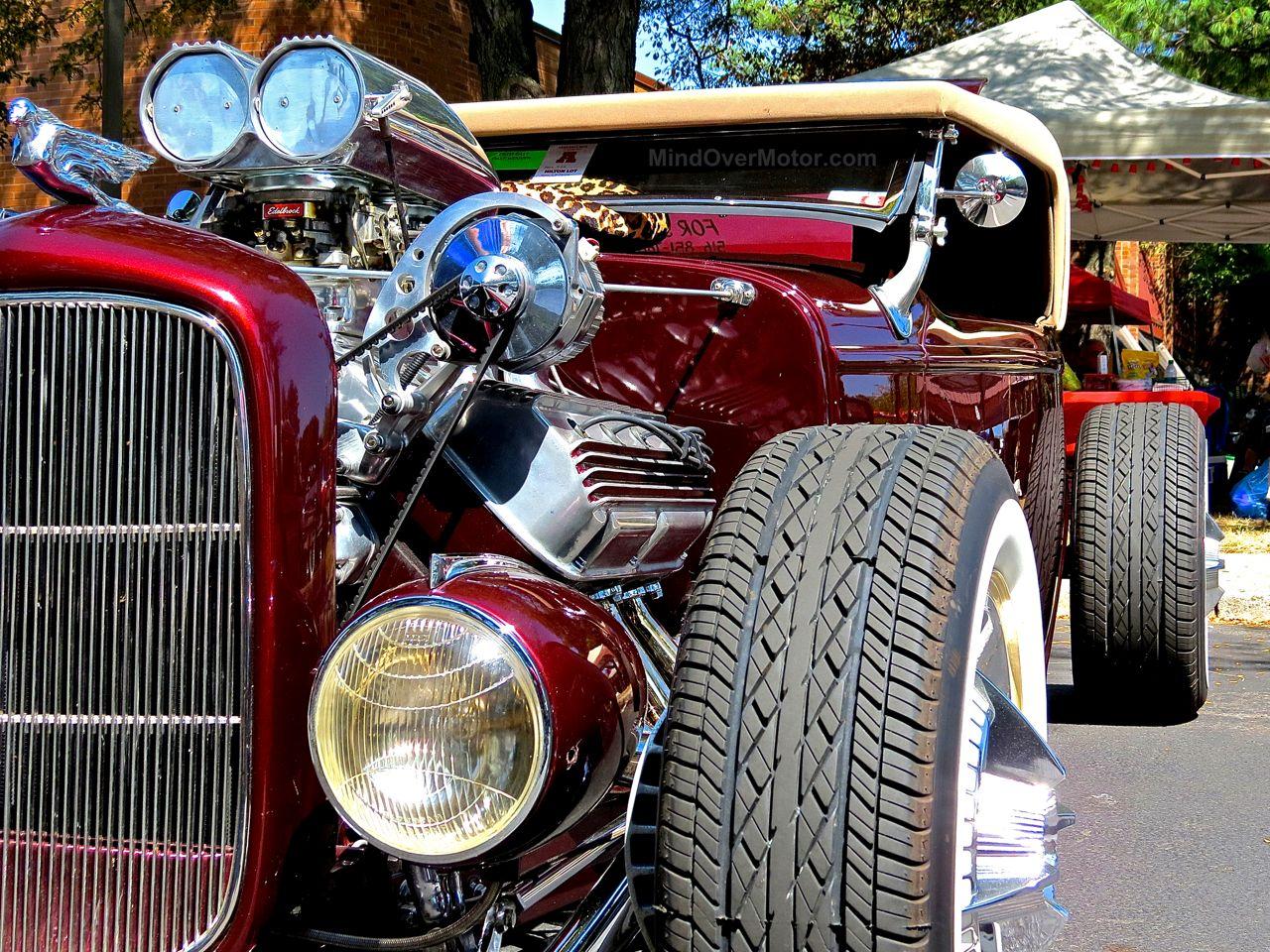 Lead East Burgandy Ford Hot Rod