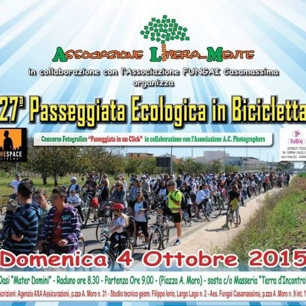 Casamassima-Passeggiata ecologica, appuntamento al 4 ottobre-Locandina Passeggiata ecologica in bicicletta