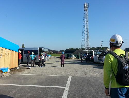 茨城県常総市で水害ボランティア(援人 1004便)